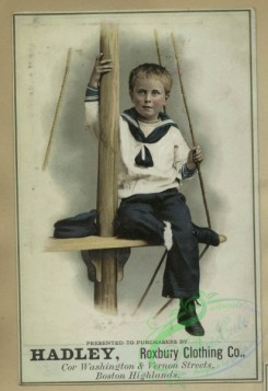 prang_cards_kids-00431 - 1619-Trade cards depicting flowers, sailor boys, a curtain and a basket of eggs 102623