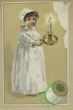 prang_cards_kids-00437 - 1645-Trade cards depicting thread, children, babies, women, snow, candle, umbrella, butterfly, turtle, birds, music playing, a painting palette, a couple i 102803