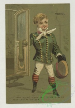 prang_cards_kids-00485 - 1793-Cards depicting children in the following professions-a coachman, a concierge, a jockey and a maid 103724