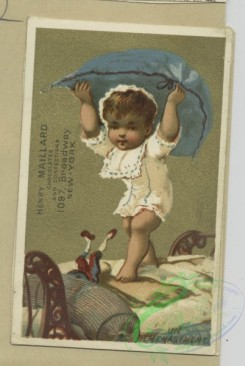 prang_cards_kids-00492 - 1795-Trade cards depicting flowers personified, a violinist, children, a pillow, toys, a toy dog, spectacles and a letter 103742