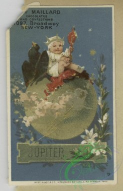 prang_cards_kids-00513 - 1805-Trade cards depicting baby Jupiter sitting on his planet, the Japanese flag, a dove and children playing outdoors 103823