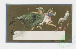 prang_cards_kids-00535 - 0032-Valentines and Birthday cards depicting children in mythological scenes 105099