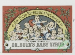 prang_cards_kids-00556 - 0313-Trade cards for dry goods, garden seeds, baby syrup, chocolate, prints, clothing, Depictions of cocoa beans, slave in chains, babies, mother teaching 104930