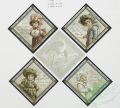 prang_cards_kids-00562 - 0364-Christmas cards depicting angels, girls, a bird and decorative designs 105305