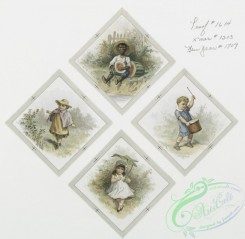 prang_cards_kids-00575 - 0464-Christmas and New Year cards depicting children, birds, adults, kissing, a drum, watermelon, winter and flowers 106030