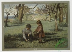 prang_cards_kids-00577 - 0471-Christmas and New Year cards depicting children collecting flowers, winter scenes with snow, birds, and trees 106072