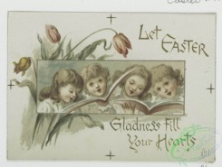 prang_cards_kids-00636 - 0640-Birthday, Easter and Valentine cards depicting children, flowers, plants, books and singing 107077