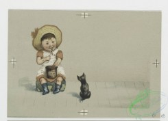prang_cards_kids-00646 - 0704-Christmas cards depicting children, crying, fish, jam, cats, dogs, bubbles and a stove 107395