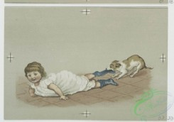 prang_cards_kids-00648 - 0704-Christmas cards depicting children, crying, fish, jam, cats, dogs, bubbles and a stove 107397