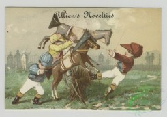 prang_cards_kids-00718 - 1493-Trade cards depicting children dressed as jockeys with fake horses, and lessons for children 102066