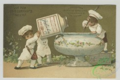 prang_cards_kids-00721 - 1494-Trade cards depicting jars of meat at various places and occasions-on a dog pulled sled, being used by chefs, at a wedding, being enjoyed by jeste 102070