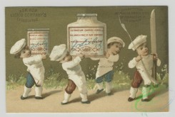 prang_cards_kids-00729 - 1495-Trade cards depicting jars of meat, chefs, women, a cannon, and men with jar bodies 102079