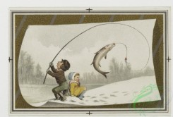prang_cards_kids-00742 - 0057-Christmas and New Year cards depicting children fishing, skating, playing with toys, and dogs , plants 106774