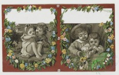 prang_cards_kids-00754 - 0310-Cards with depictions of children and decorative flowers 104885
