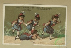 prang_cards_kids-00835 - 1794-Trade cards depicting girls running and falling, boys-drawing from a bowl, marching with a drum, learning to be a soldier and doing detective work 103728