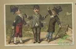 prang_cards_kids-00867 - 1801-Trade cards depicting boys-attempting to steal, playing with toy horses and carrying a dummy 103793
