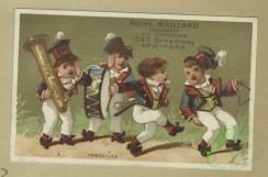 prang_cards_kids-00876 - 1802-Trade cards depicting a musical band, singing, discipline, school and girls-reading, playing and holding puppies 103802