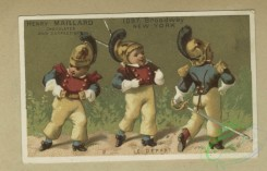 prang_cards_kids-00881 - 1803-Trade cards depicting boy and girl soldiers and musical instruments 103807