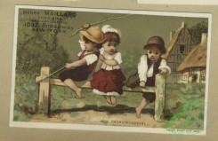 prang_cards_kids-00900 - 1805-Trade cards depicting baby Jupiter sitting on his planet, the Japanese flag, a dove and children playing outdoors 103831