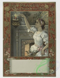 prang_cards_people-00003 - 0369-Gift calendars and New Year cards depicting women, men, children, a fireplace and decorative designs 105322