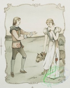 prang_cards_people-00030 - 1171-The shepherds dream (depicting royalty, girl, tiger, boy, cabinet and castle) 100622