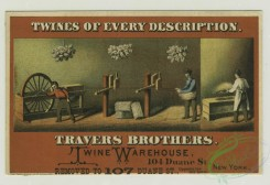 prang_cards_people-00039 - 1282-Trade cards depicting pickles, angels, medals, twine and twine production, addresses include 104 Duane Street 101059