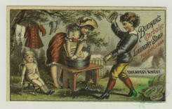 prang_cards_people-00051 - 1336-Trade cards depicting sailboats, a road, an angel riding a swan drawn boat made of soap, a woman washing clothes and bathing a dog 101278