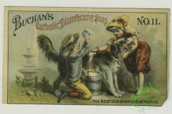 prang_cards_people-00052 - 1336-Trade cards depicting sailboats, a road, an angel riding a swan drawn boat made of soap, a woman washing clothes and bathing a dog 101279