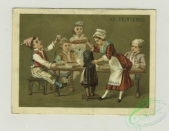 prang_cards_people-00053 - 1339-Calendars and trade cards depicting costumed children playing, a family at a dinner table, a woman hiding a letter in a tree, a women passing a note t 101291