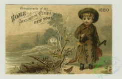 prang_cards_people-00060 - 1372-Calendars and trade cards depicting a woman flying on a goose, girls gathering flowers in a basket, flowers, rivers, boats, a gazebo, a boy carrying a 101452