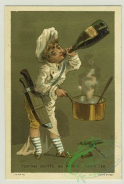 prang_cards_people-00064 - 1379-Trade cards depicting boys performing various jobs-cook, server and foot servant 108615
