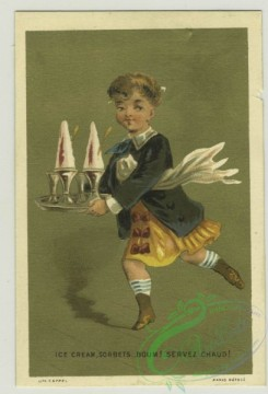 prang_cards_people-00065 - 1379-Trade cards depicting boys performing various jobs-cook, server and foot servant 108616