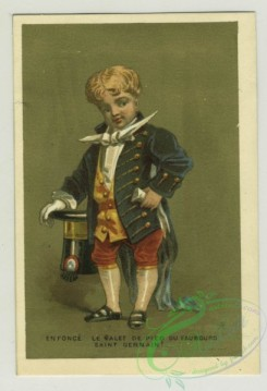 prang_cards_people-00067 - 1379-Trade cards depicting boys performing various jobs-cook, server and foot servant 108618