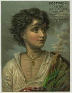 prang_cards_people-00072 - 1410-(A trade card depicting a man in the wind wearing a necklace and earring.) 101691