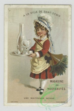 prang_cards_people-00089 - 1469-Trade cards depicting children dressed as a-maid, gentleman, chef and sailor 101958