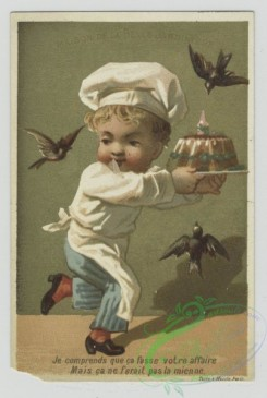prang_cards_people-00091 - 1469-Trade cards depicting children dressed as a-maid, gentleman, chef and sailor 101960