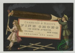 prang_cards_people-00094 - 1484-Trade cards depicting children smoking a large cigar and a man chasing after his horse 102022