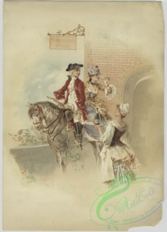 prang_cards_people-00098 - 1527-A trade card depicting a woman serving drinks to a couple on a horse 102223