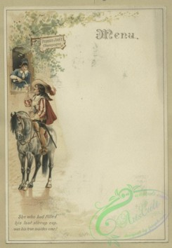 prang_cards_people-00120 - 1605-Trade and menu cards depicting geese, sailboats and a woman serving a man champagne from a window 102580