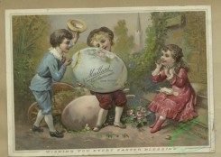 prang_cards_people-00123 - 1624-Easter and trade cards depicting fans, painting palettes, large eggs, a dance, a wharf, reading, and children playing ring-around-a-rosy 102657