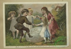 prang_cards_people-00124 - 1624-Easter and trade cards depicting fans, painting palettes, large eggs, a dance, a wharf, reading, and children playing ring-around-a-rosy 102658