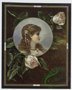 prang_cards_women-00006 - 0274-Valentine cards with text, depicting flowers, a vase, decorative designs and portraits 104518