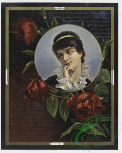 prang_cards_women-00007 - 0274-Valentine cards with text, depicting flowers, a vase, decorative designs and portraits 104519
