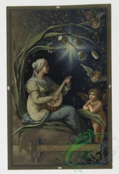prang_cards_women-00009 - 0361-Christmas cards depicting angels, stars, women, the moon and decorative designs 105283