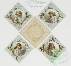 prang_cards_women-00012 - 0437-Valentine and Christmas cards with notes, depicting children, flowers, a dove, pussy willow, Santa Claus, elves, sleighs, ducks, and winter scenes 105817