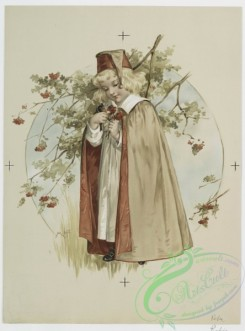 prang_cards_women-00022 - 0786-Robin, Karl. (Prints depicting young girls with flowers and trees, snow and snowball.) 107700