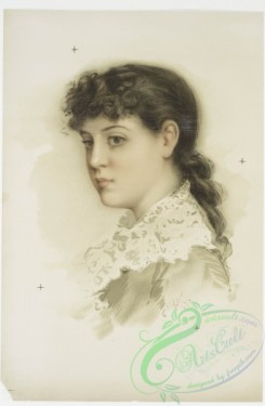 prang_cards_women-00024 - 0797-Brunette (portrait of a woman) 107737