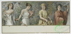 prang_cards_women-00025 - 0896-(A calendar for 1891, Christmas and New Year cards depicting women holding flowers and fruit, correspondence, birds, girls with dogs, a coin and decor 108163
