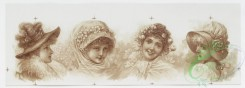 prang_cards_women-00029 - 1038-Christmas and Easter cards depicting young girls, flowers, leaves, and ribbons 100127