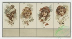 prang_cards_women-00030 - 1049-Christmas cards depicting young girl with flowers in her hair, and plant and flower decorations 100196